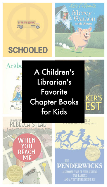 An amazing list of Favorite Chapter Books for Kids from an experienced Children's Librarian.  It includes lots of titles I hadn't heard of before!