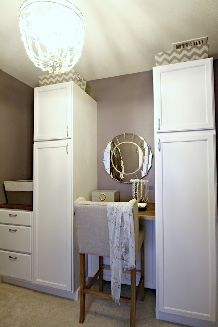 Built in clothing storage in master closet