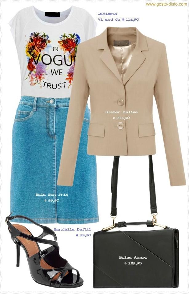 Aprenda como usar blazer feminino com jeans