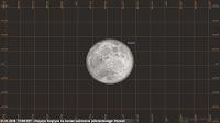 Półcieniowe zaćmienie Księżyca 31.01.2018, godz. 17:08 - położenie Księżyca nad horyzontem w końcowym momencie zjawiska w Poznaniu