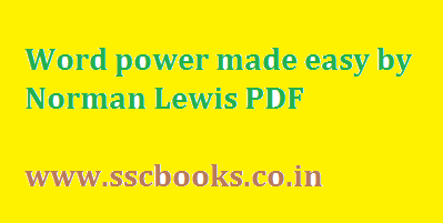Word Power By Norman Lewis Pdf