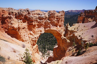 Natural Stone Arch in Bryce Canyon National Park, Utah.