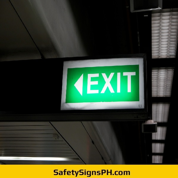 Acrylic Illuminated Exit Sign Philippines