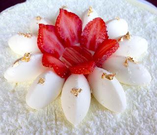 fiore - Cheesecake panna e fragole