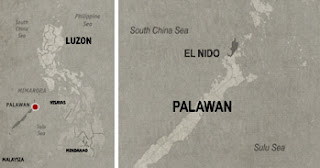 El Nido Location Map