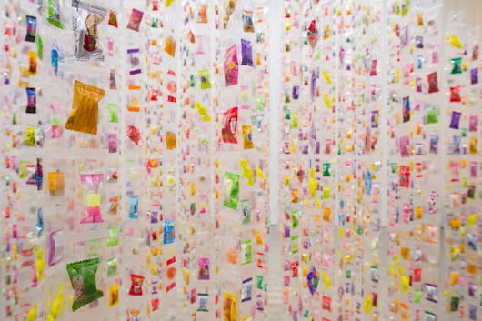 Eat Me: An Interactive Installation Made from 7,000 Pieces of Candy