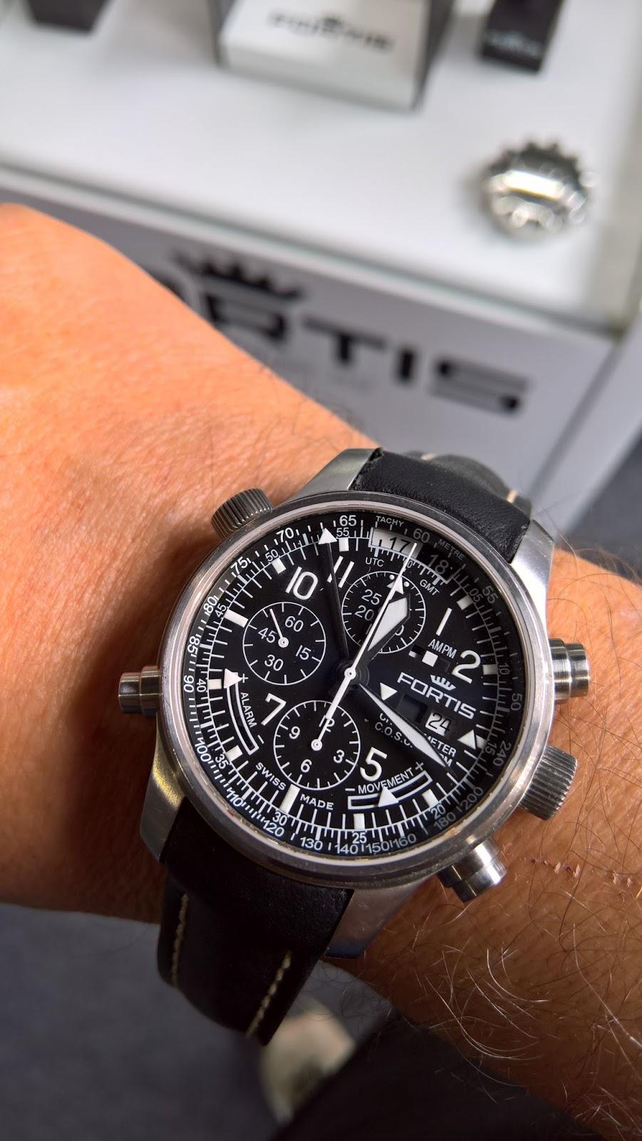 dd9e77bc404 Estação Cronográfica  Com os relógios Fortis no Portugal Air Summit