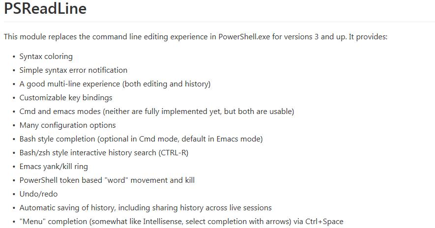 Happy SysAdm: Spotlight on the PSReadline PowerShell module