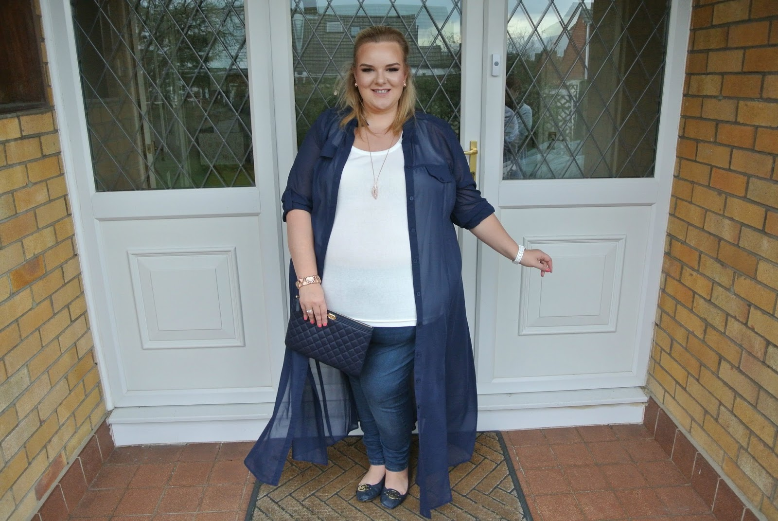 Scarlett and Jo Plus Size Maxi Shirt Dress