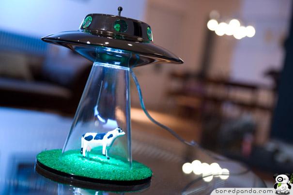 Diseño de lámpara creativa OVNI