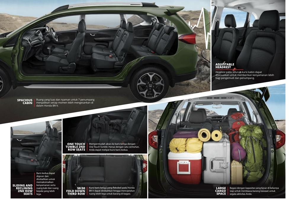 cabin Honda-BRV luas