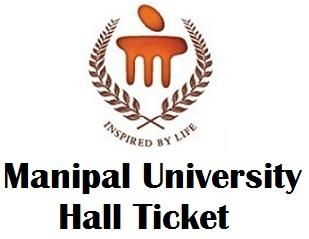 Manipal University Online Exam Hall Ticket 2017