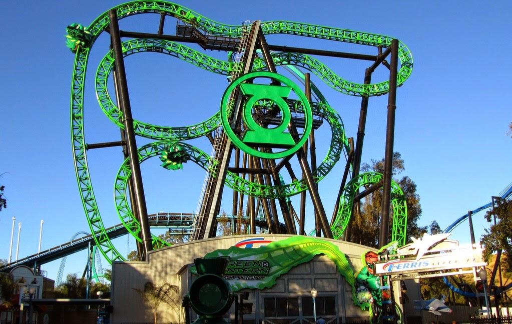 Parque Six Flags Magic Mountain Califórnia Montanha Russa
