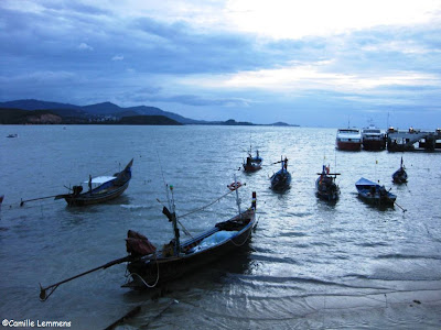 Late evening at the Seatran pier in Bang Rak
