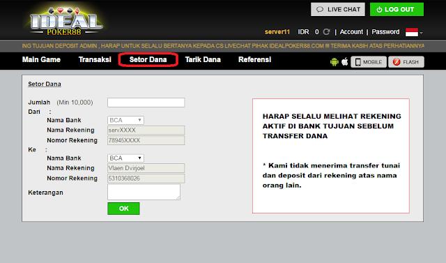 cara deposit poker online, cara deposit agen terpercaya
