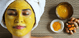 Mascarilla dorada para eliminar arrugas, manchas cutáneas y el acné
