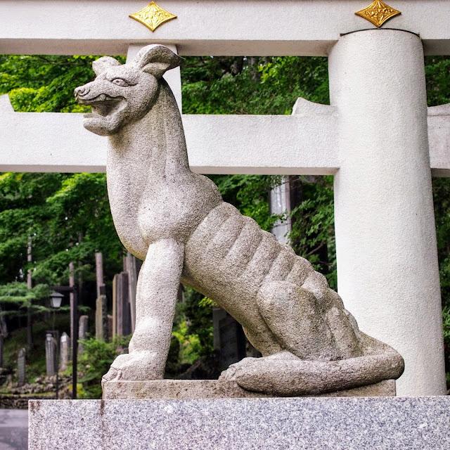 秩父 三峯神社 狛犬 狼