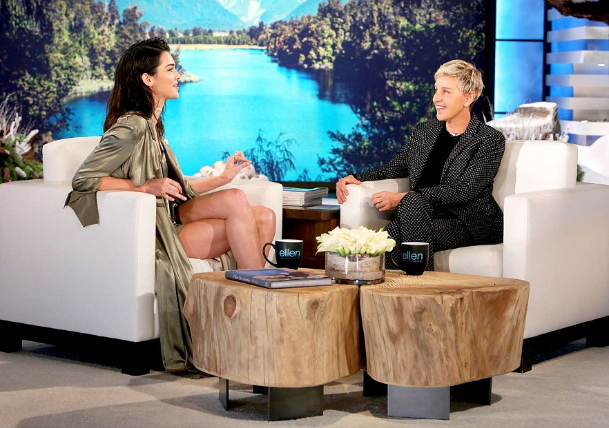 Kendall Jenners flaunts endless legs on The Ellen Degeneres Show