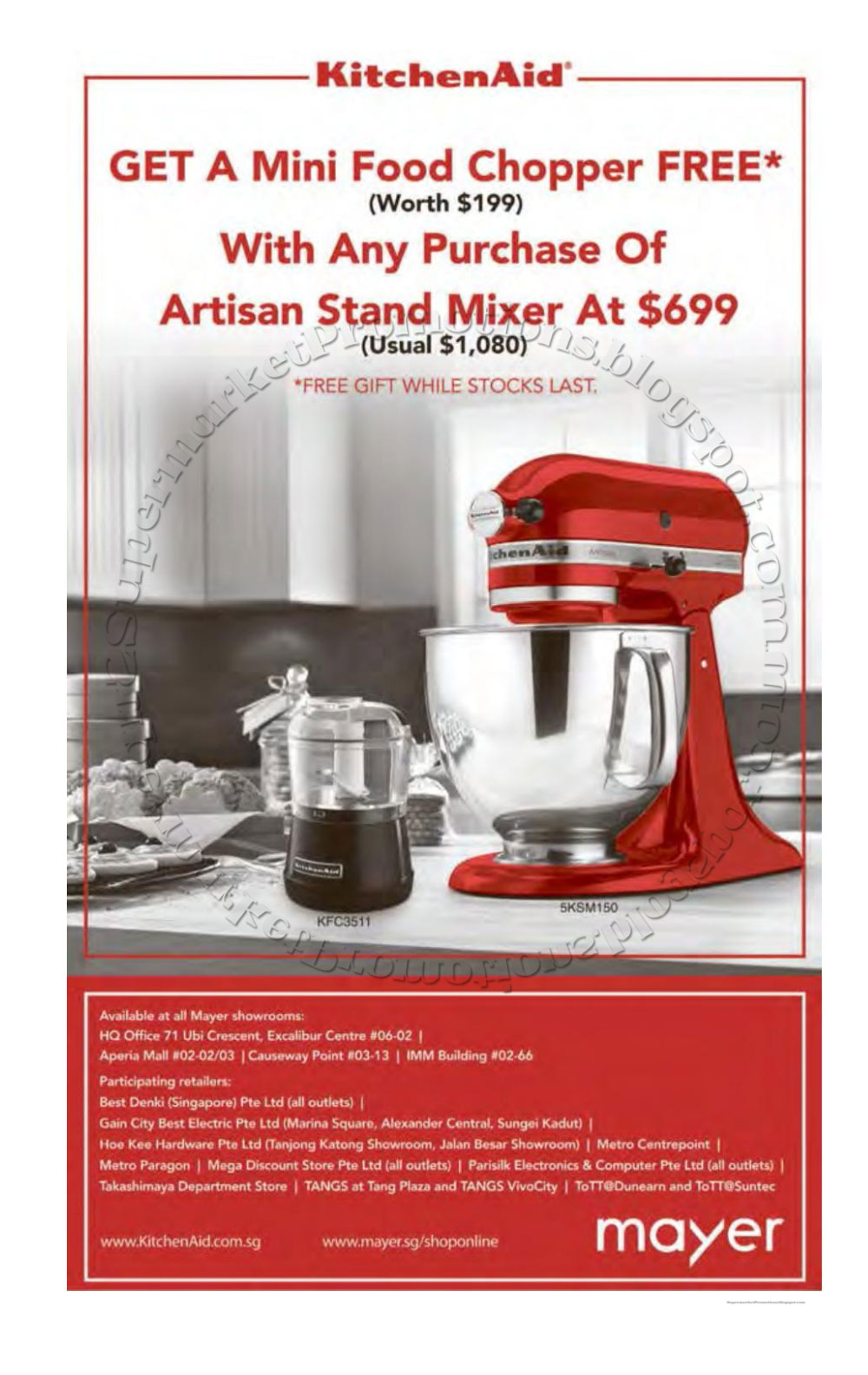 Wonderful Mayer KitchenAid Promotion 24 June 2016 Images