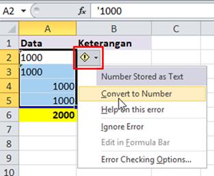 Cara menggunakan alat pemeriksa kesalahan excel