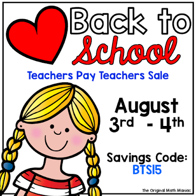 Math Maniacs LOVE Back to School TPT Sale