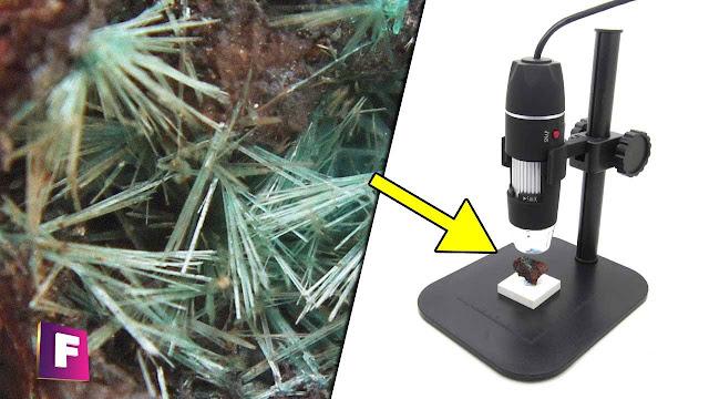 como se ven los minerales y gemas bajo el microscopio usb