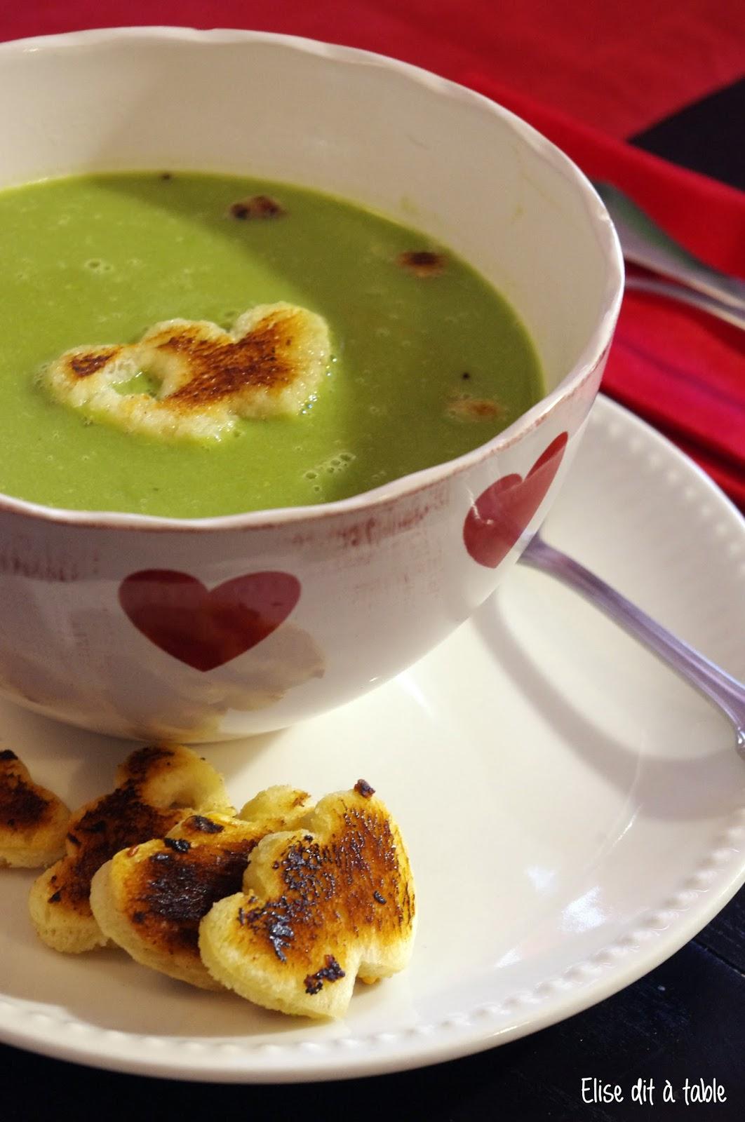 recette Soupe haricots petit pois