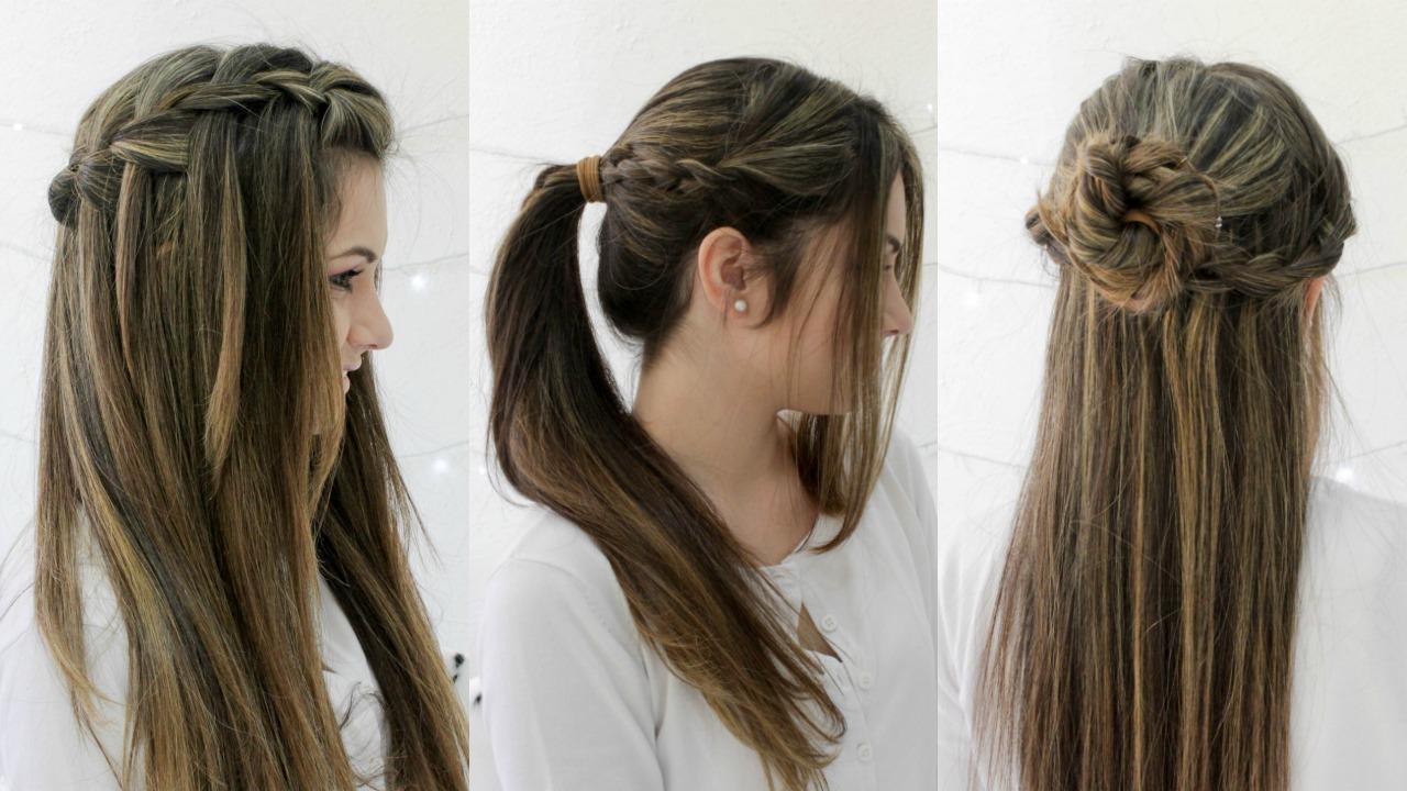 penteados, fáceis, rápidos