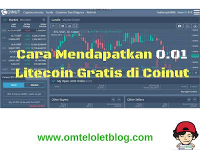 Cara Mendapatkan 0.01 Litecoin Gratis di Coinut