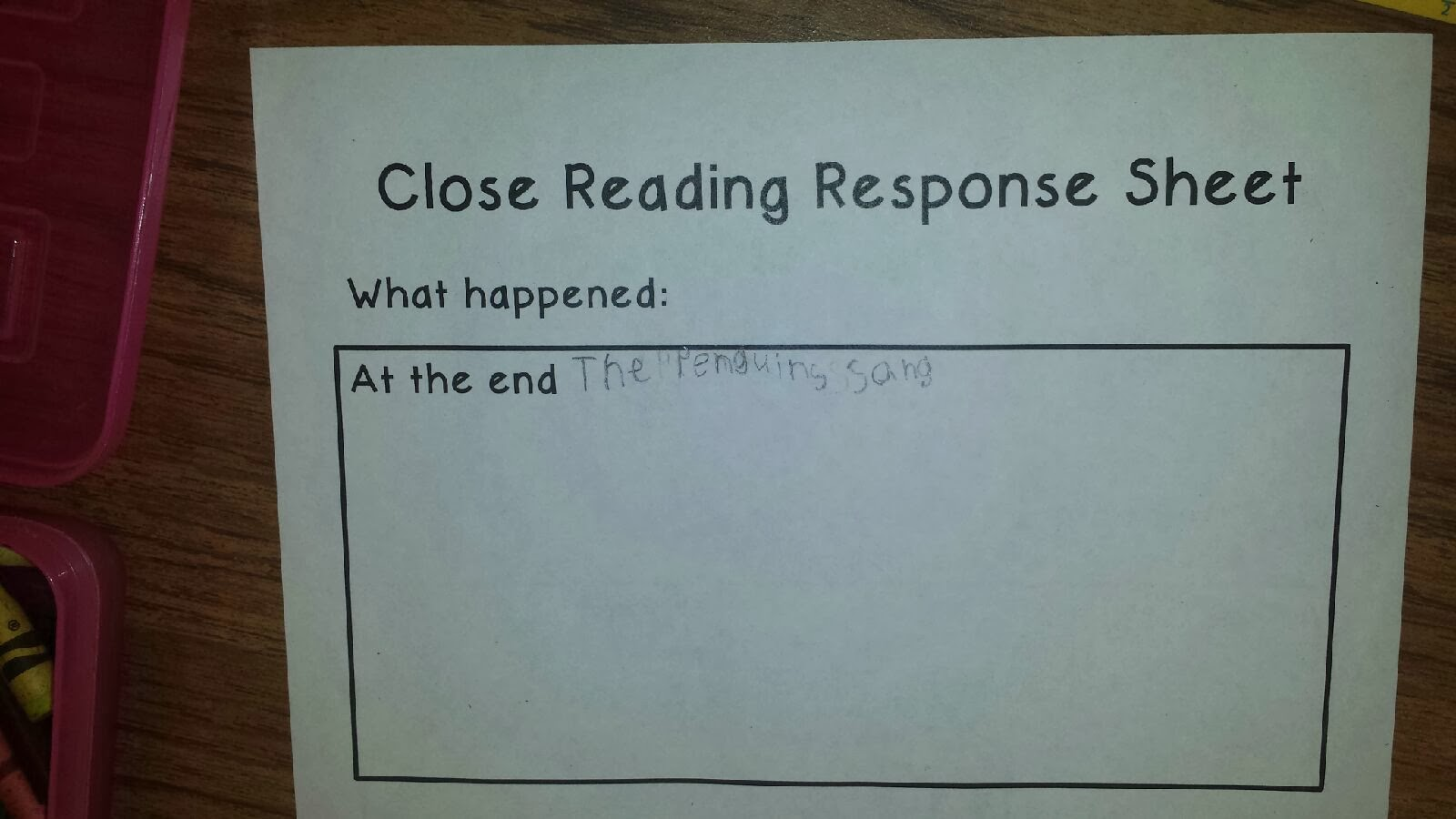 Kindermyway Close Reading Lessons