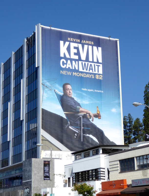 Giant Kevin Can Wait series premiere billboard