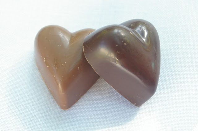 Milk and dark chocolate hearts from the Yarra Valley Chocolaterie