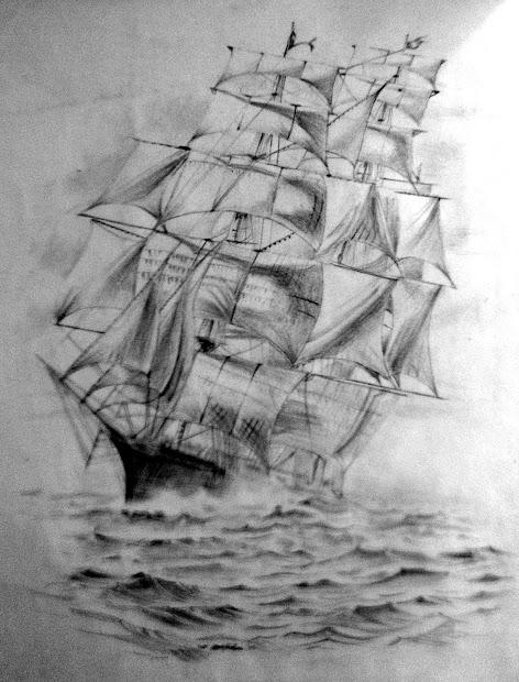 Arts & Crafts Ship Sketch