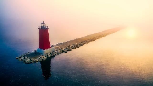 Light House at Lake Michigan