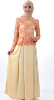 Baju brokat muslim sederhana