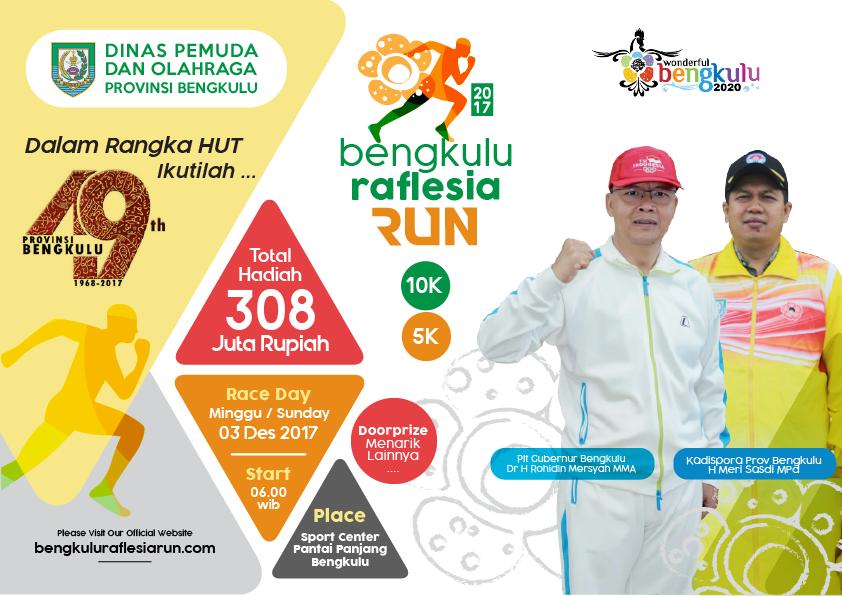 Poster Bengkulu Raflesia Run • 2017
