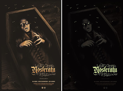 Nosferatu Glow in the Dark Movie Poster Screen Print by Sara Deck x Grey Matter Art