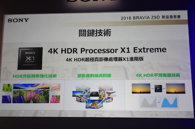 4K HDR 處理器 X1 Extreme 進階版本
