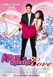 A Very Special Love is a 2008 Filipino comedy romance film produced by Star Cinema and Viva Films, starring John Lloyd Cruz and Sarah Geronimo.
