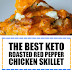 The Best Keto Roasted Red Pepper Chicken Skillet