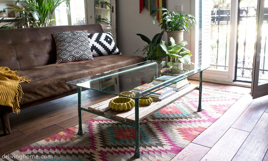 Diy copper coffee table