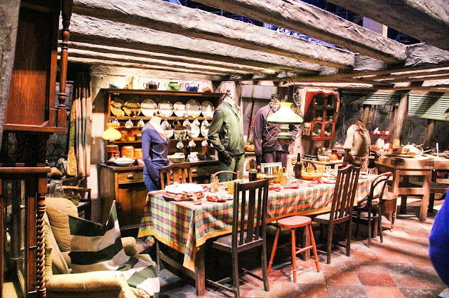 Salon des Weasley studios Harry Potter