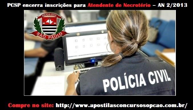 Concurso Atendente de Necrotério - Polícia Civil/SP
