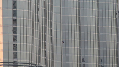 Spiderman climbs Burj Khalifa