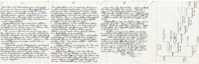 Handwritten Genealogy