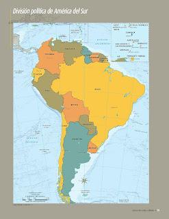 Apoyo Primaria Atlas de Geografía del Mundo 5to. Grado Capítulo 3 Lección 1 División Política de América del Sur