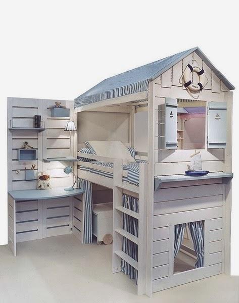 diseño cama original para niño
