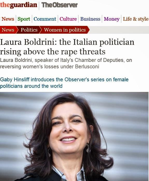 http://www.theguardian.com/politics/2014/feb/09/laura-boldrini-italian-politician-rape-threats