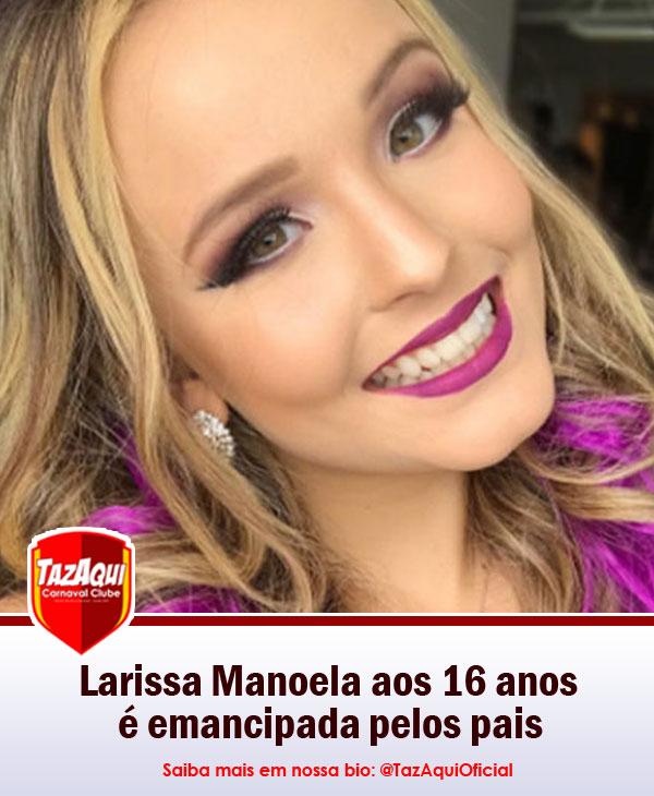 Se você encontrara Larissa Manoela em alguma boate proibida para menores de  idade, não se assuste! Aos 16 anos, a atriz do SBT foi emancipada por seus  pais ... 72ce3bcdab