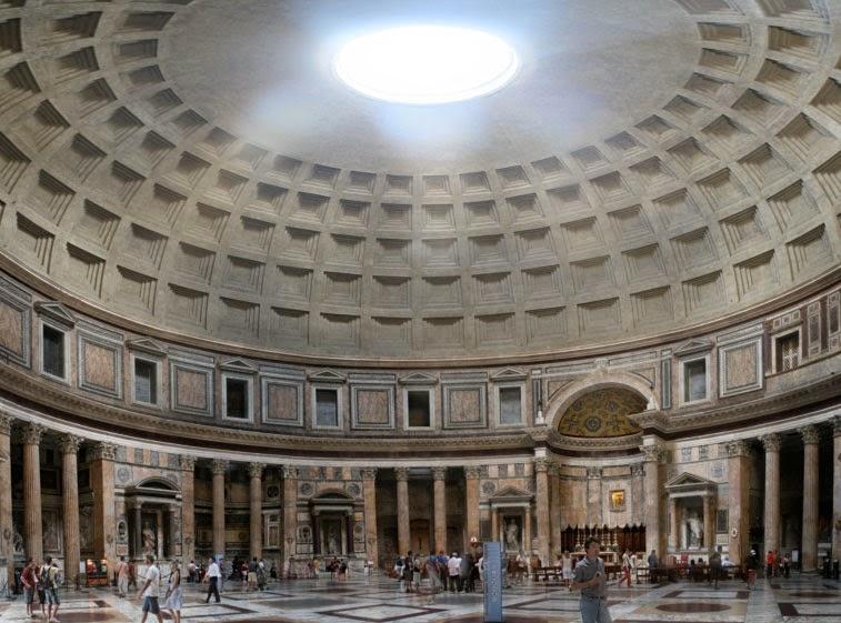 Il blog di fabrizio falconi l 39 enigma del pavimento del for Esterno pantheon